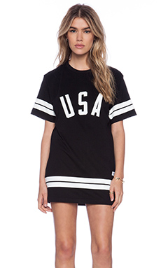 T-SHIRT MANCHES COURTES USA STRIPE TEE
