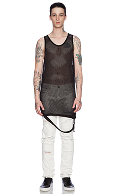 Stampd Military Mesh Strap Tank in Black