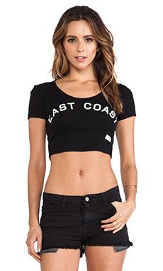 Stampd East Coast Crop Top in Black