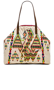 Star Mela Zuri Embroidered Bag in Ecru