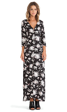 Stillwater 3/4 Sleeve Button Front Maxi Dress in Charlotte