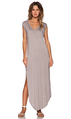 Stillwater The T-Shirt Maxi Dress in Taupe