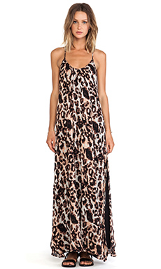 Stillwater The Leather Back Dress in Blush Leopard