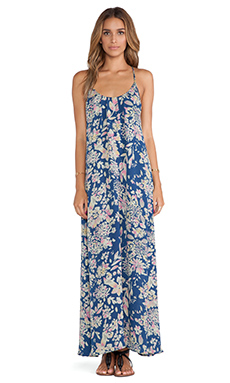 Stillwater Leather Back Maxi in Blue Floral