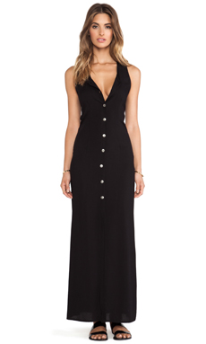 Stillwater Open Back Maxi in Black Challie