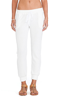 Stillwater The Track Pant in Ivory Rib