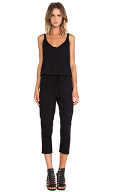 Stillwater The Sunday Pant Romper in Black