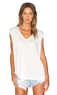 Stillwater The V Neck Tee in White