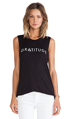 Stillwater Gratitude Muscle Tank in Black