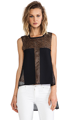 Suboo Lace Shell in Black