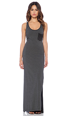 sub_urban RIOT Taylor Maxi Dress in Faded Black