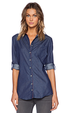 Sub_Urban RIOT Harper Button Up in Indigo Chambray