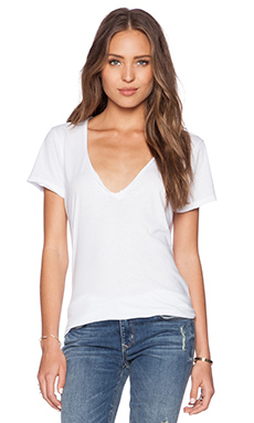 Sub_Urban RIOT Casey V Neck Tee in White