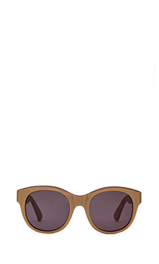 Sunday Somewhere x FASHIONTOAST Paris Sunglasses in Matte Metallic Gold