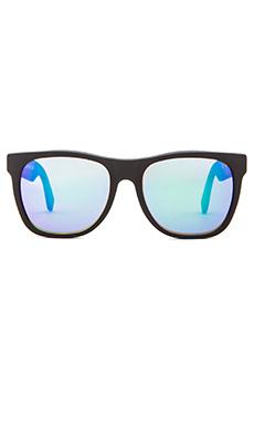 Super Basic Wayfarer in Black w. Rainbow Lens