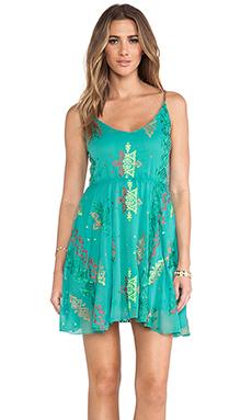 Surf Gypsy Tie Die Mini Dress in Jade