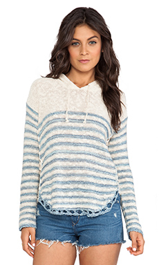 Surf Gypsy Hooded Sweater in Blue
