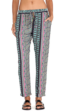 Surf Gypsy Paisley Print Pant in Navy