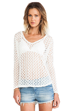 Surf Gypsy Long Sleeve Top in Ivory