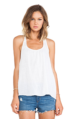 Surf Gypsy T Back Tank Top in White