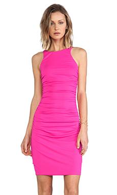 Susana Monaco Double Racer Back Dress in Pink Glo