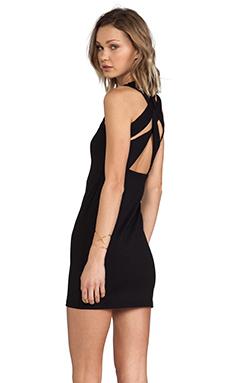 Susana Monaco Olivia Cut Out Back Dress in Black