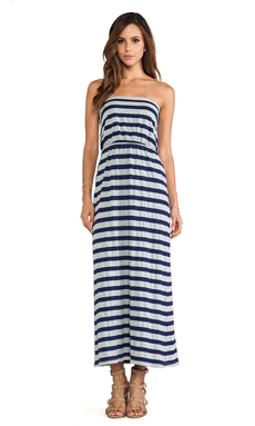 Susana Monaco Maxi Tube Dress in Inkwell/Heather Grey