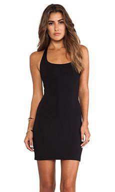 Susana Monaco Halter Mini Dress in Black