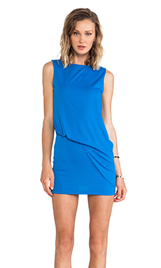 Susana Monaco Mika Side Gathered Tank Dress in Blueberry