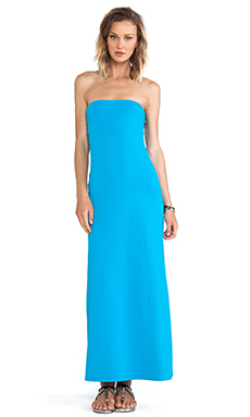 Susana Monaco Helena Strapless Maxi Dress in Hawaiian Ocean