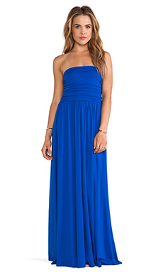 Susana Monaco Aurora Strapless Maxi Dress in Sapphire