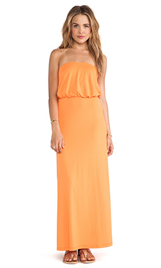 Susana Monaco Blouson Tube Dress in Marmalade