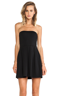 Susana Monaco Harlow Strapless Dress in Black