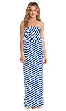 Susana Monaco Rita Strapless Maxi Dress in Sapphire