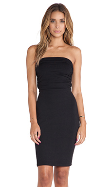 Susana Monaco Strapless Rouched Dress in Black