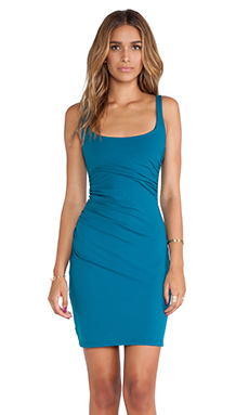 Susana Monaco Cross Gather Tank Dress in Sea