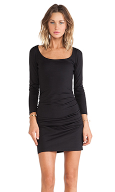 Susana Monaco Gather Sleeve Dress in Black