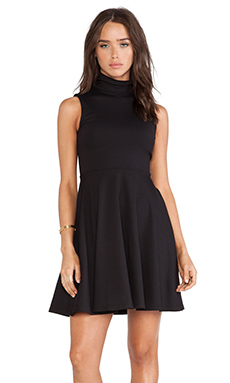 Susana Monaco Turtle Flared Dress in Black