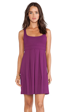 Susana Monaco Tank Pleat Dress in Berry
