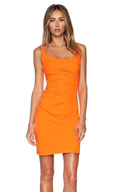 Susana Monaco Cross Gather Tank Dress in Lava