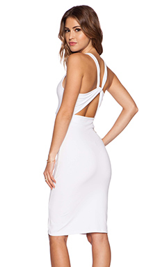 Susana Monaco Twist Back Midi Dress in Sugar