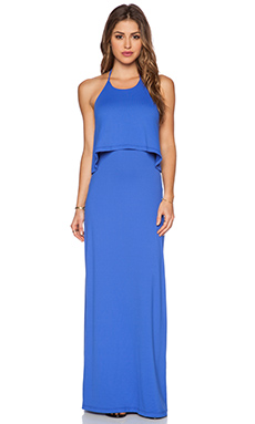 Susana Monaco String Halter Maxi Dress in Topaz