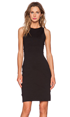 Susana Monaco Twist Back Midi Dress in Black