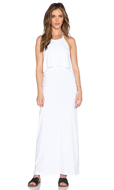 Susana Monaco String Halter Maxi Dress in Sugar