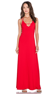 Susana Monaco Leona Maxi Dress in Perfect Red