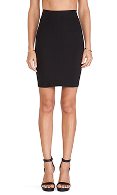 Susana Monaco Straight Skirt in Black