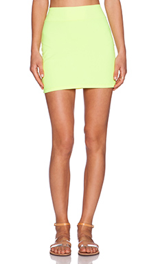 Susana Monaco Mini Skirt in Neon