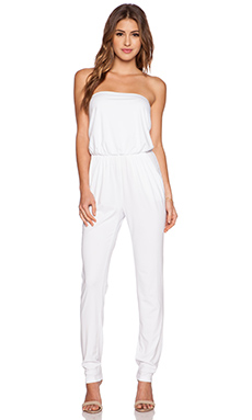 Susana Monaco Strapless Jumpsuit in Sugar