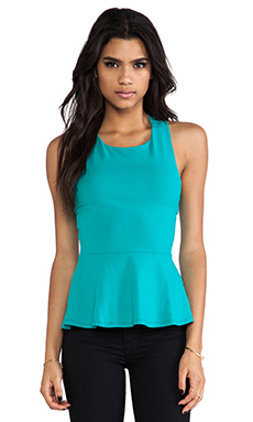Susana Monaco Zoe Cross Back Tank in Kingfisher