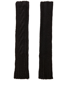 SUSS Jana Cable Gloves in Black